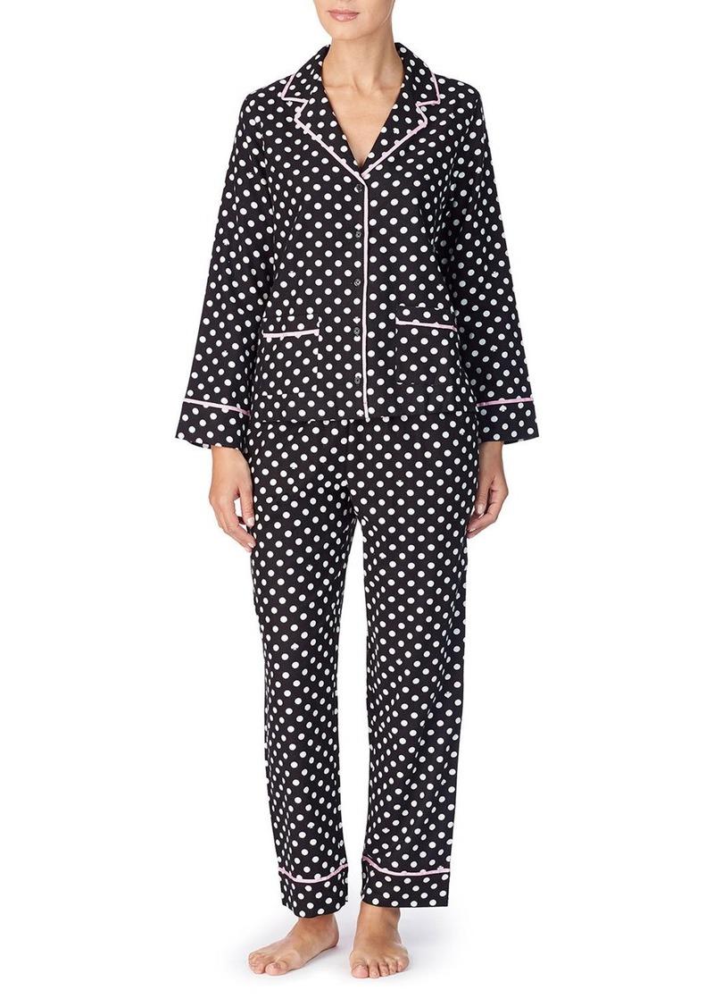 Kate Spade polka dot twill classic pajama set