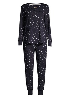 Kate Spade Polka Dot Two-Piece Pajama Set