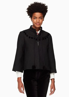 Kate Spade pom embroidered jacket