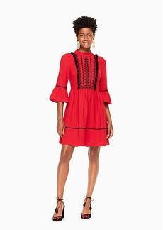 Kate Spade pom embroidered mini dress