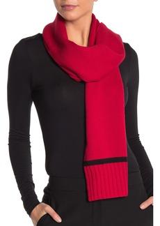 Kate Spade pompom bow knit scarf