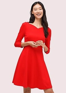 Kate Spade ponte fit-and-flare dress