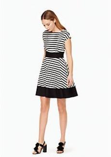 ponte stripe fiorella dress