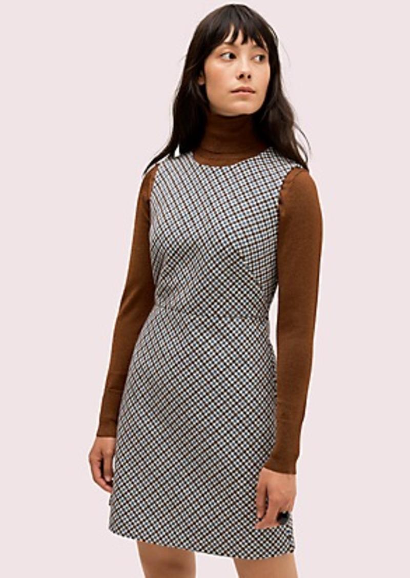 Kate Spade pop houndstooth dress