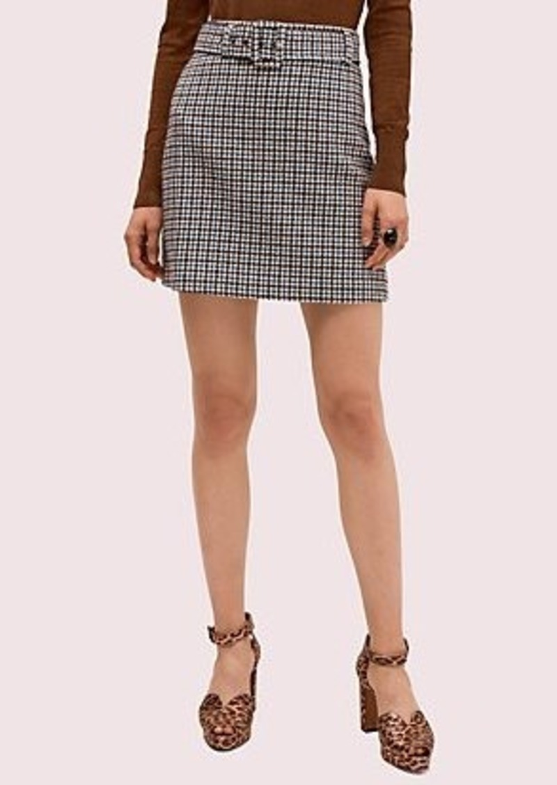 Kate Spade pop houndstooth mini skirt