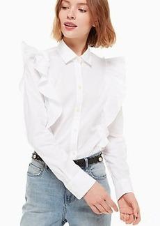 Kate Spade poplin ruffle shirt