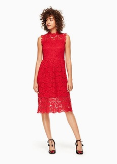 Kate Spade poppy lace midi dress