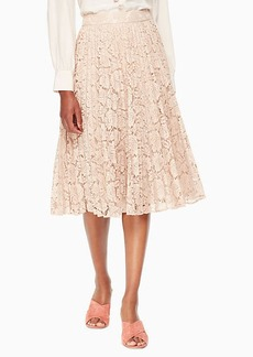 Kate Spade poppy lace pleated skirt