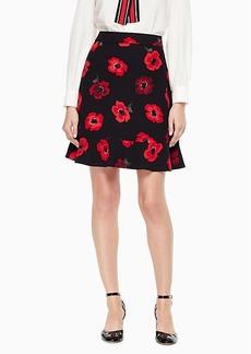 poppy ruffle crepe skirt