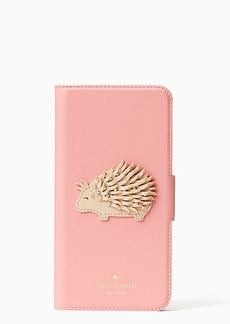 Kate Spade porcupine applique folio iphone 7 plus case