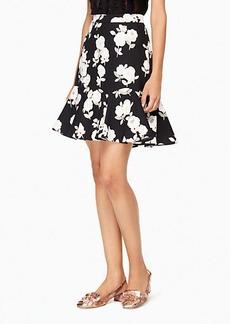 posy floral flounce skirt
