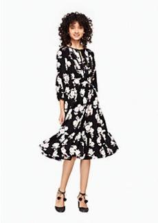 posy floral silk dress