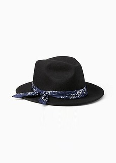 Kate Spade printed band trilby