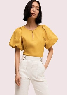 Kate Spade puff sleeve poplin blouse