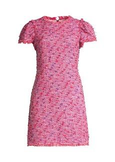 Kate Spade Puff Sleeve Tweed Sheath Dress