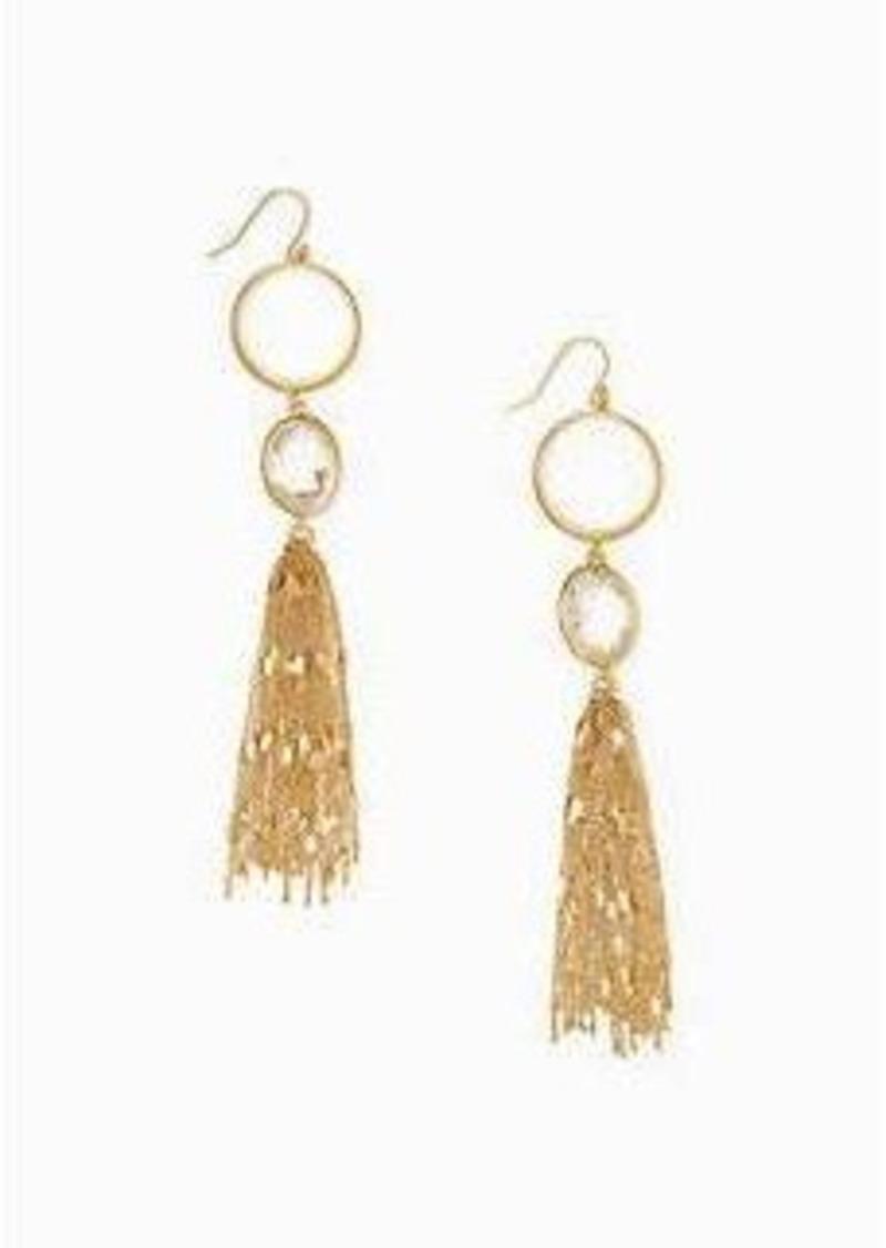 Kate Spade quartz cascade statement linear earrings