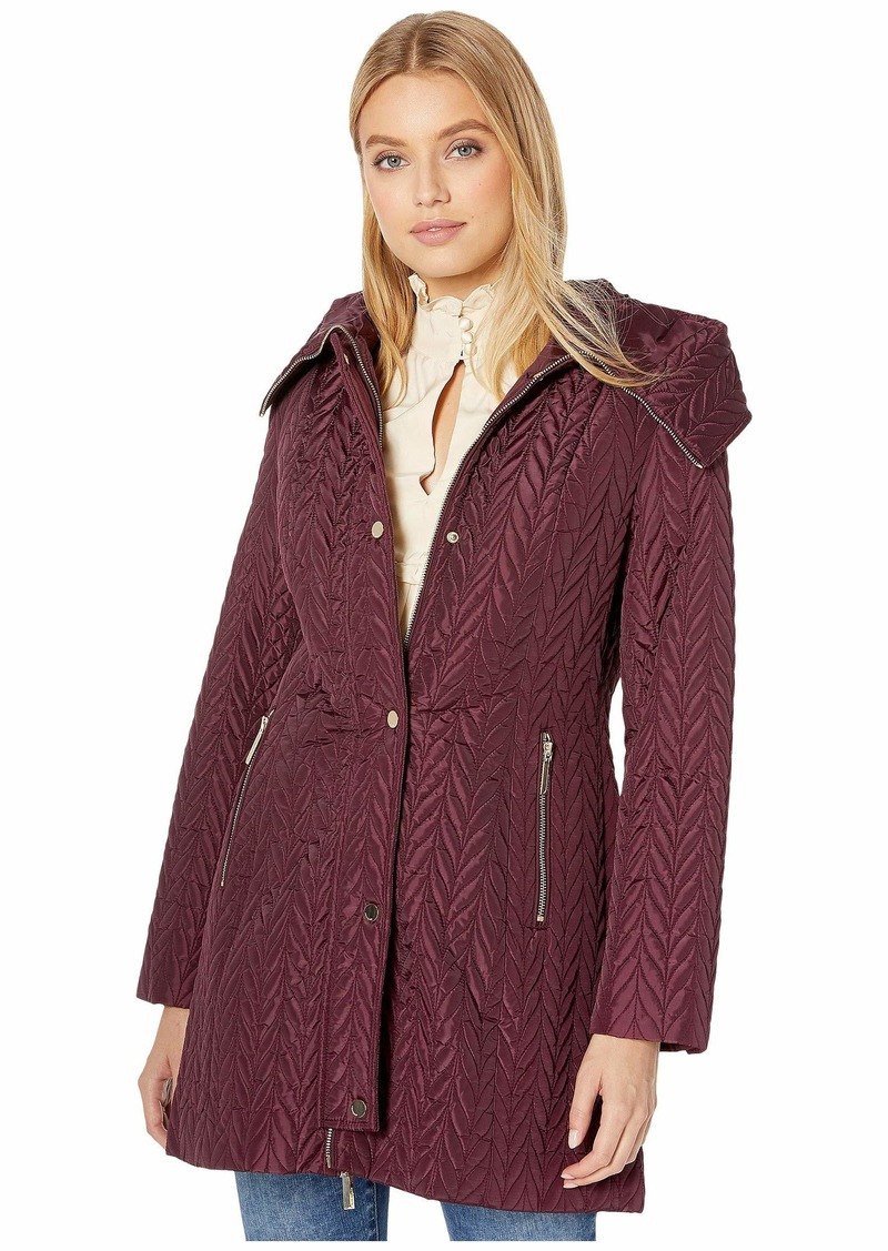 Kate Spade Quilted Long Line Jacket
