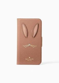 Kate Spade rabbit applique iphone x & xs folio case