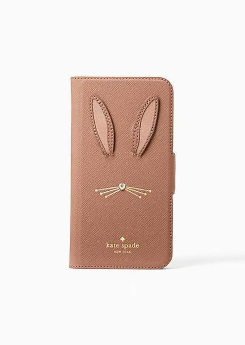 wholesale dealer ec020 9d454 rabbit applique iphone x & xs folio case