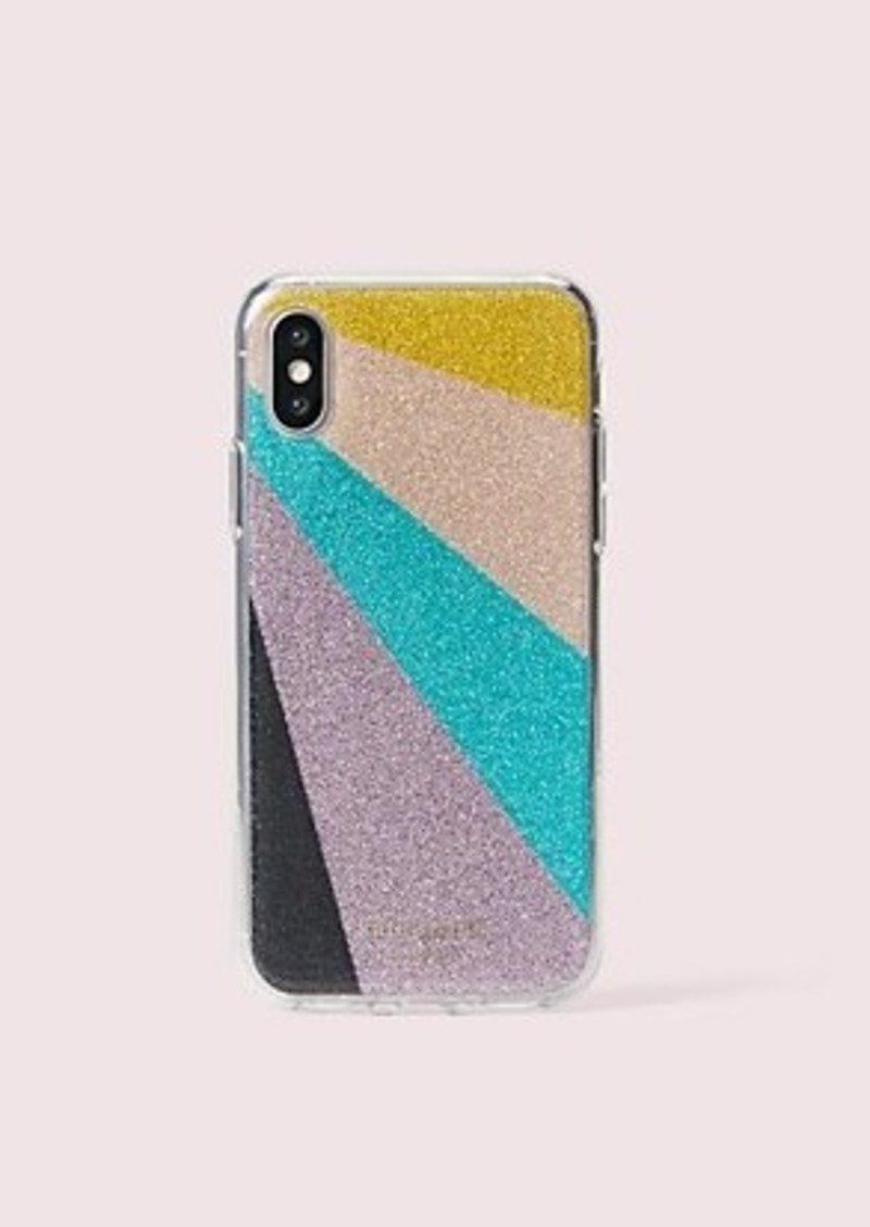 Kate Spade radiating glitter iphone xs case
