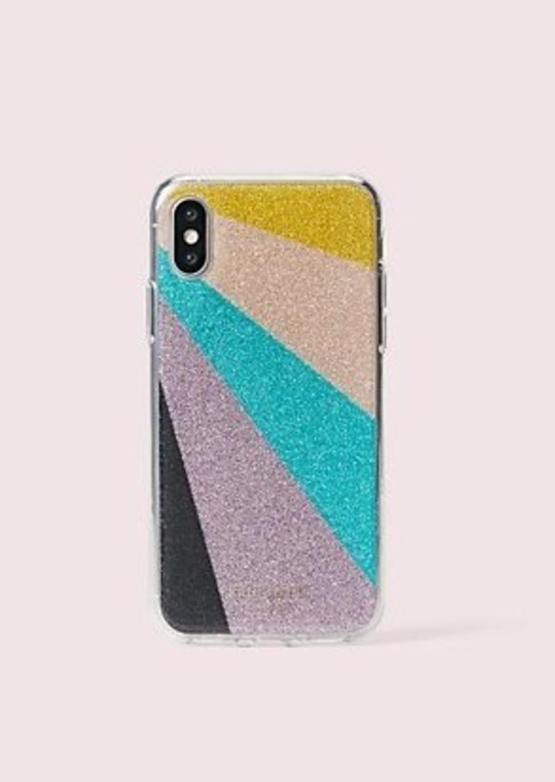 Kate Spade radiating glitter iphone xs case