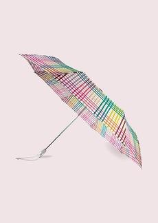 Kate Spade Rainbow Gingham Travel Umbrella