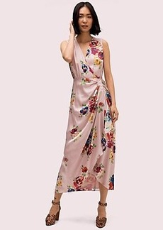 Kate Spade rare roses silk midi dress