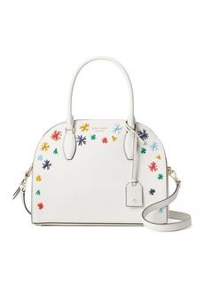 Kate Spade reiley raffia starburst saffiano satchel bag