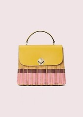 Kate Spade romy wicker medium top-handle bag