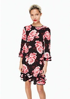 rosa ruffle shift dress