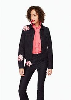Kate Spade rose denim jacket