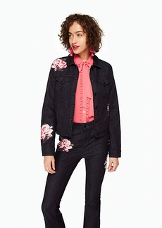Kate Spade rose denim jacket
