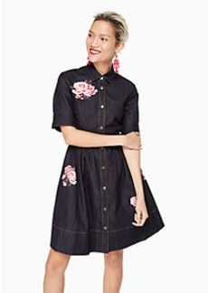 rose denim shirtdress