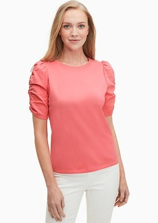 Kate Spade Ruched Sleeve Top