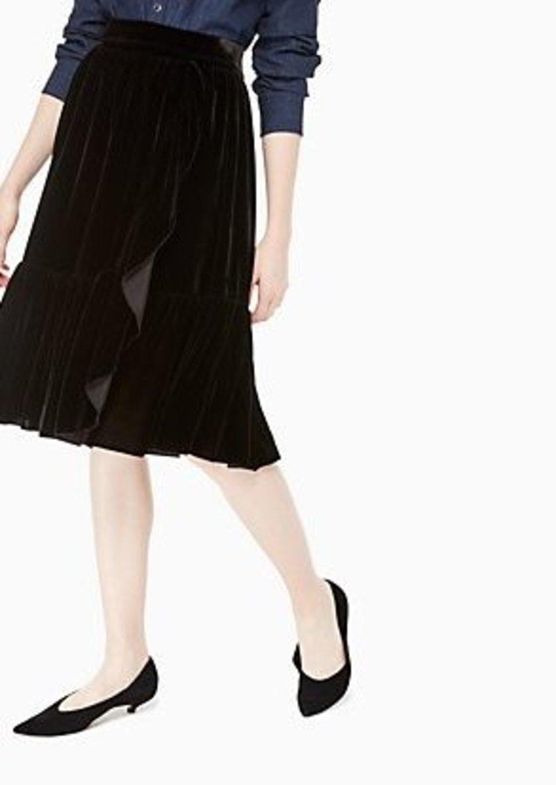 Kate Spade ruffle front velvet skirt