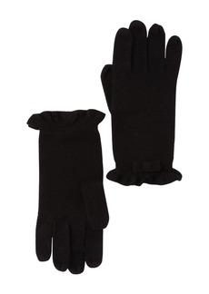 Kate Spade ruffle knit bow gloves