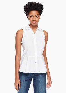 Kate Spade ruffle peplum shirt