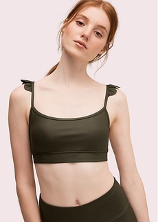 Kate Spade ruffle shoulder sports bra