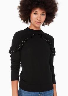 Kate Spade ruffle studded sweater