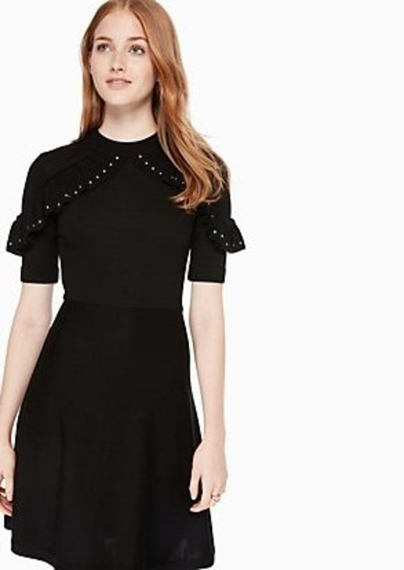 Kate Spade ruffle studded sweater dress