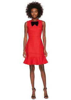 Kate Spade Ruffle Tweed Dress