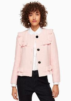 Kate Spade ruffle tweed jacket