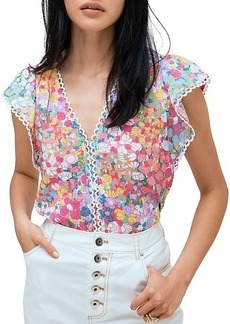 Kate Spade Ruffled Floral Top