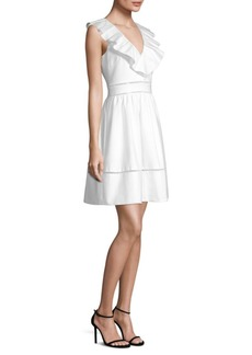 Kate Spade Ruffled Neck Sheath Dress