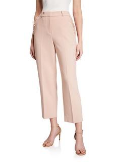 Kate Spade ruffled-pocket cropped pants