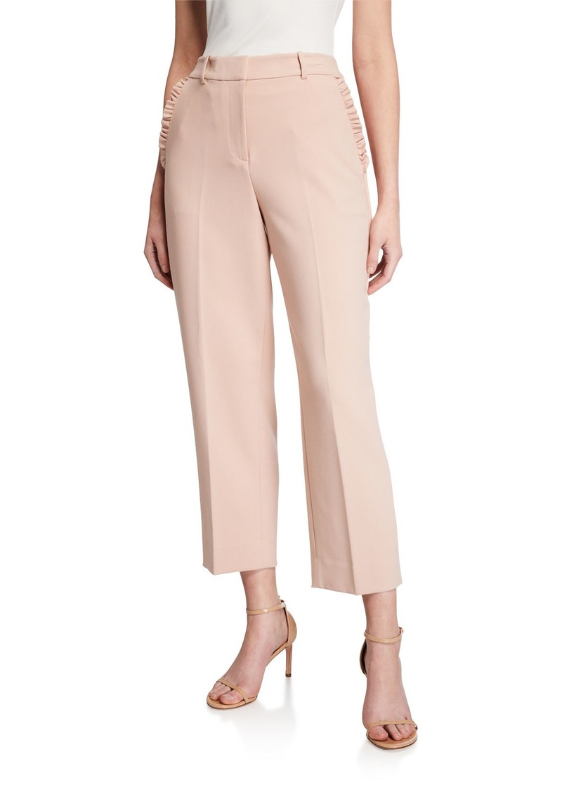 Kate Spade ruffled-pocket cropped pants
