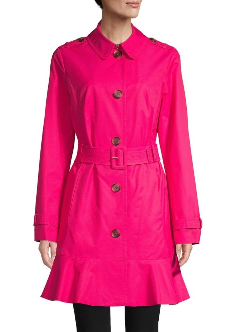 Kate Spade Ruffled Trench Coat