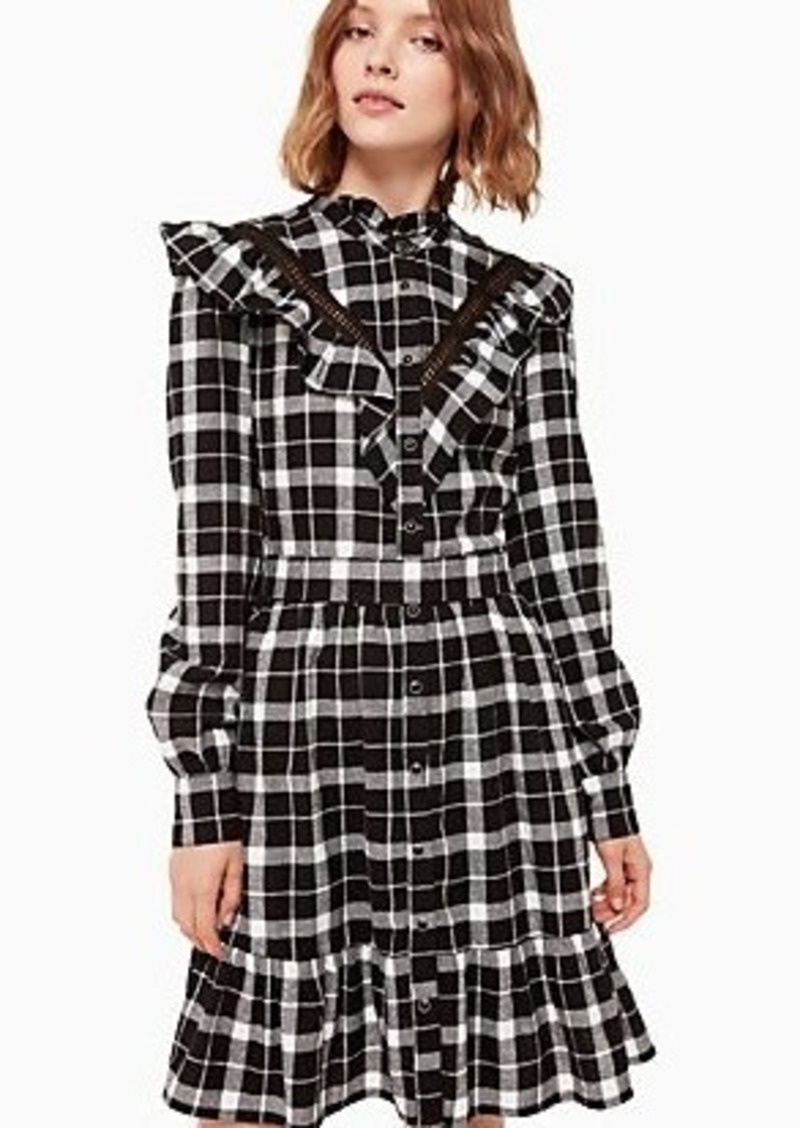 Kate Spade rustic plaid flannel dress