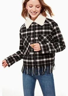 Kate Spade rustic plaid jacket