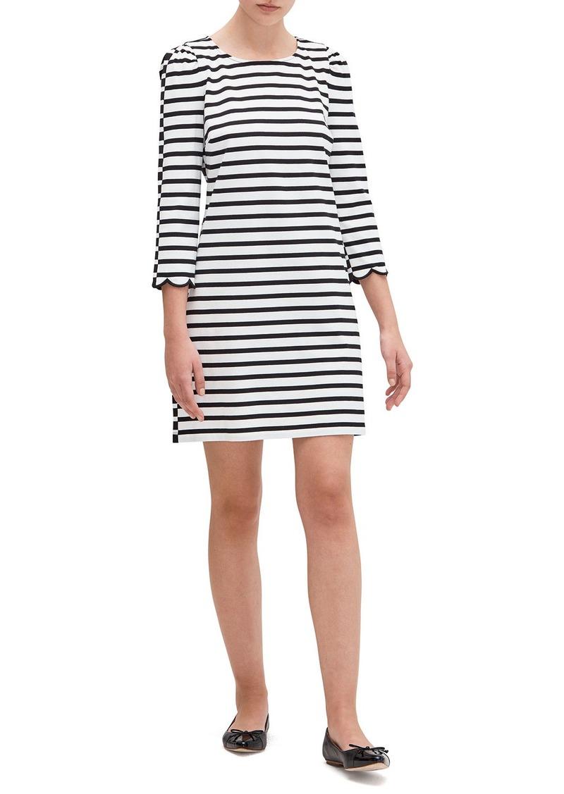 Kate Spade sailing stripe scallop dress